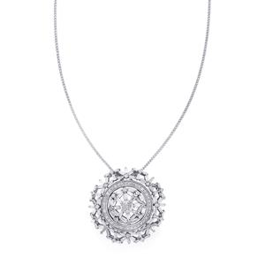 Diamond 3 in 1 Detachable Pendant Necklace with one Chain in Sterling Silver 2ct
