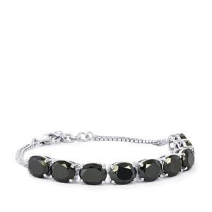 Black Spinel Bracelet in Sterling Silver 32cts