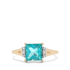 Batalha Topaz Ring with White Zircon in 9K Gold 2.18cts