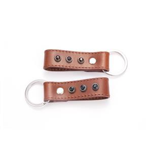 Leather Key Fob with Gemstones