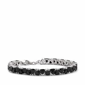 Black Spinel Bracelet in Sterling Silver 22.40cts
