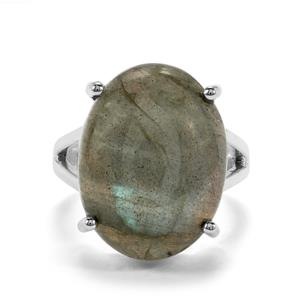 Labradorite Ring in Sterling Silver 18cts