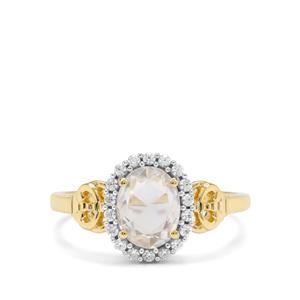 1.65ct Rose Cut Ratanakiri Zircon 9K Gold Ring