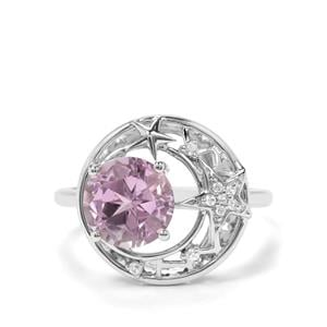 Lone Star Ametista Amethyst & White Zircon Sterling Silver Ring ATGW 2.15cts