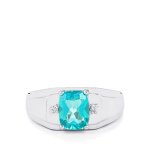 Batalha Topaz Ring with Diamond in Sterling Silver 2.47cts