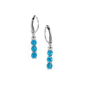 1ct Neon Apatite Sterling Silver Earrings