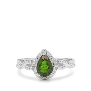 1.06ct Chrome Diopside Sterling Silver Ring