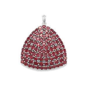 19.97ct Malagasy Ruby Sterling Silver Pendant (F)