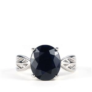 6.59ct Madagascan Blue Sapphire Sterling Silver Ring