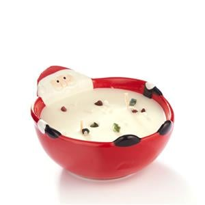 Father Christmas Treat Bowl Candle with Gemstones ATGW 10cts