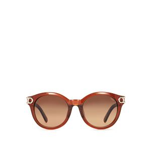 Chloe Brown Cat's Eye Design Sunglasses