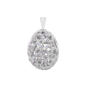 Tanzanite Moscow Egg Pendant in Sterling Silver 1.18cts