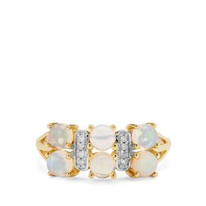 Kelayi Opal Ring with Diamond in 9K Gold 1.14cts