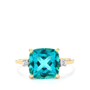 Batalha Topaz Ring with White Zircon in 10k Gold 5.35cts