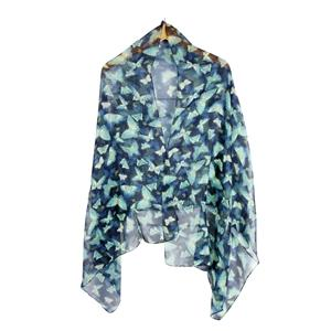 100% Polyester Butterfly Printed Ladies Destello Scarf