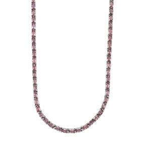 Sakaraha Pink Sapphire Necklace in Sterling Silver 25.61cts