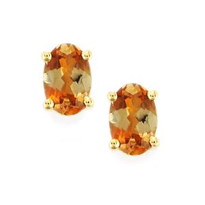 0.86ct Gouveia Andalusite 10K Gold Earring
