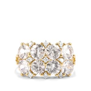 5.38ct Singida Tanzanian & White Zircon 10K Gold Ring