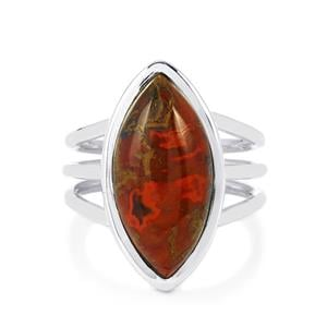 8.50ct Sonoreña Seam Agate Sterling Silver Aryonna Ring