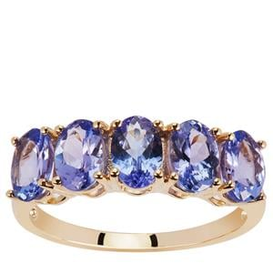AAA Tanzanite Ring in 9K Gold 2.45cts