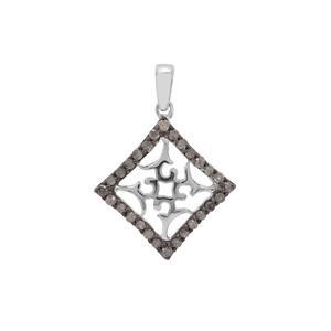 1/3ct Salt & Pepper Diamond Sterling Silver Pendant