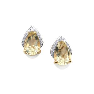 Serenite Earrings with Diamond in 18K Gold 2.64cts