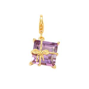 Ametista Amethyst Present Charm in Gold Plated Sterling Silver 4.41cts