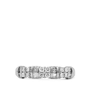 Diamond Ring in 18K White Gold 0.33ct