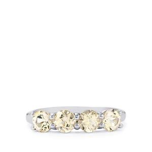 1.41ct Champagne Danburite Sterling Silver Ring