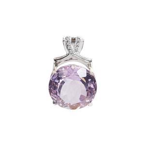 12.90ct Purple Fluorite Sterling Silver Pendant