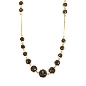 Black Onyx Necklace in Gold Vermeil 46.65cts