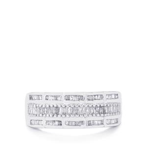Diamond Ring in Sterling Silver 0.51ct