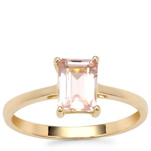 Alto Ligonha Morganite Ring in 10K Gold 0.85ct