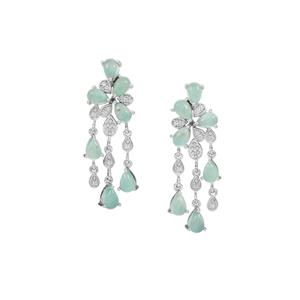 Aquaprase™ Earrings with White Zircon in Sterling Silver 7cts