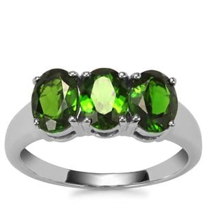 Chrome Diopside Ring in Sterling Silver 2.36cts