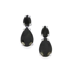 9.55ct Black Spinel Sterling Silver Earrings