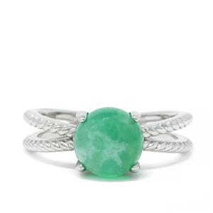 Szklary Chrysoprase Ring in Sterling Silver 2.45cts