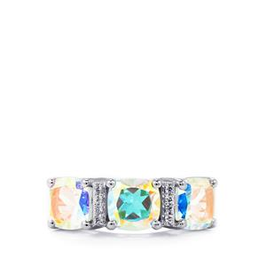 5.38ct Mercury Mystic & White Topaz Sterling Silver Ring
