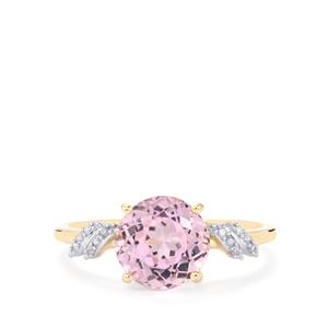 Mawi Kunzite Ring with Diamond in 10k Gold 2.72cts