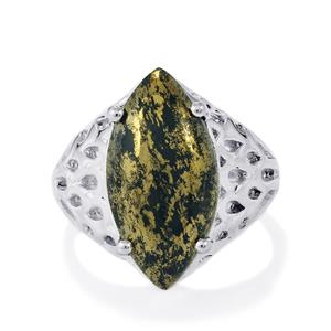 Apache Gold Pyrite Ring in Sterling Silver 10cts