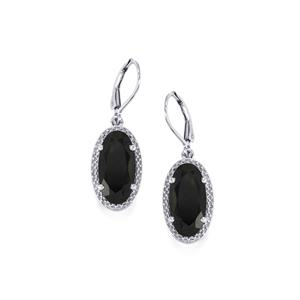 11.70ct Black Spinel Sterling Silver Earrings