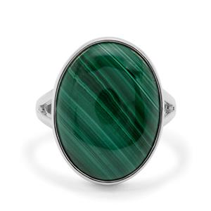 14.38ct Malachite Sterling Silver Aryonna Ring