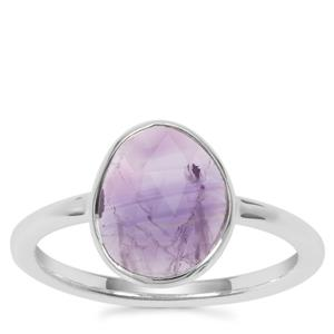 Zambian Amethyst Ring in Sterling Silver 1.83cts