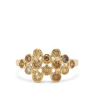 1.14ct Multi-Colour Diamond 18K Gold Tomas Rae Ring