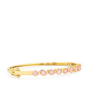 Mozambique Pink Spinel Oval Bangle in 9K Gold 3.25cts
