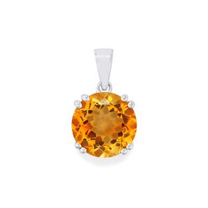 Diamantina Citrine Pendant in Sterling Silver 6cts