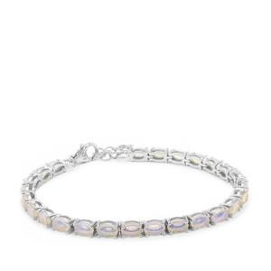 Coober Pedy Jelly Opal Bracelet in Sterling Silver 6cts