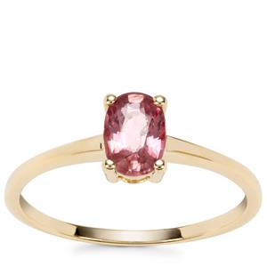 Padparadscha Sapphire Ring in 9K Gold 0.86ct