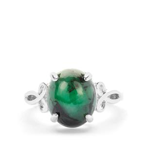 Minas Velha Emerald Ring in Sterling Silver 4.92cts