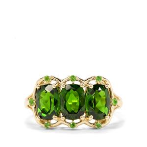 3ct Chrome Diopside 9K Gold Ring